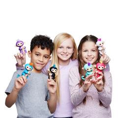 Fingerlings Colorful Fingerprint Smart Finger Monkey Interactive Electronic Smart Toys For Kids black 15*5.2*22.5cm