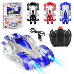 Wall Climbing Car Infrared Remote Control Car Electronic Toy Car For Kids blue 15*5.2*22.5cm
