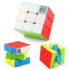 Professional 3D Magic Speed Timing Cube Puzzle Toys as Gifts for Kids & Adults As shown 6*6*6cm