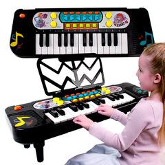 Multifunctional 25 Keys Electronic Keyboard Educational Music Instrument Toy for Kids black 41×13.5×4.5cm