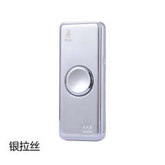 Shining Hand Spinner Cigarette Lighter USB Charging Electronic Cigarette Lighter LED Colorful Lights silver 76mm×30mm×12.7mm
