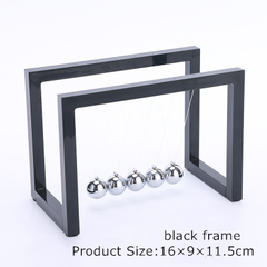 Classic Newton's Cradle Balance Balls Science Psychology Puzzle Desk Fun Gadget black frame as shown