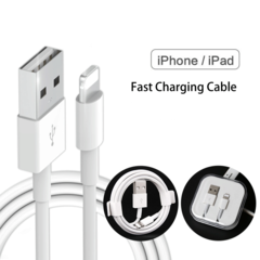 iPhone Charger Cable Data Cable Lighting for iPhone iPad with Fine Crystal Box white 1m
