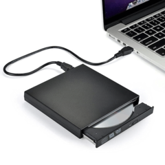 External DVD Optical Drive USB 2.0 DVD-ROM Player CD-RW Burner Reader Writer Recorder Portable Black Normal