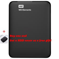 WD 500G/1TB/2TB Elements Portable External Hard Drive Disk - USB 3.0, for PC, Xbox black 2tb