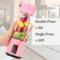 ELEPHAIS USB Juicer Blender Portable Rechargeable Powerful Dual Motor for Fruit, Ice, Food pink