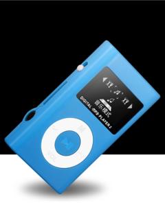 Walkman Hifi Player USB Mini MP3 Player LCD Screen  Sport Music Player Headphones Mp3 Player blue