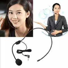 Wired Headworn Microphone Microfono MIC For Voice Amplifier Loudspeaker For Lecture Teaching Guide Black Change Wired