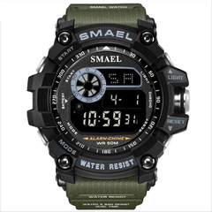 SMAEL8010 Men's Sports Watch Waterproof And Shockproof Luminous Display Electronic Watch Dark green one size