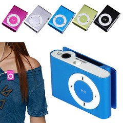Portable MP3 Player Mini Clip MP3 Music Player Support Micro TFCard Slot USB MP3 Sport Player silver