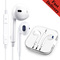 In-Ear Earphones 3.5MM Wired Headset With Mic For Tecno Huawei Oppo Samsung Iphone Android Headphone White