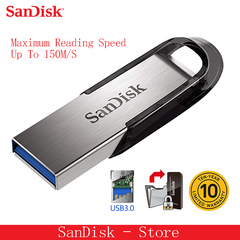 SanDisk 3.0 USB Flash Drive 128GB 64GB 32GB 16GB  Flashdisk ULTRA FLAIR Memory Stick Pen Pendrive silver 3.0usb 16gb