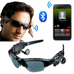 Sunglasses Sport Stereo Wireless Bluetooth Headset Sun lens Earphones Sunglasses mp3 Riding Glasses black one size