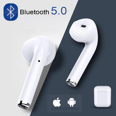 i7s TWS Mini Wireless Bluetooth Earphone Stereo Earbud Headset Headphones Mic For Iphone Smart Phone white+one earphones