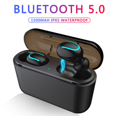 Bluetooth Earphones TWS Wireless Blutooth 5.0 Earphone Handsfree Headphone Sports Earbuds Gaming Single ear+charging box