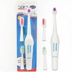 Generic Electric Toothbrush With 3 Brush Heads Oral Hygiene white one size