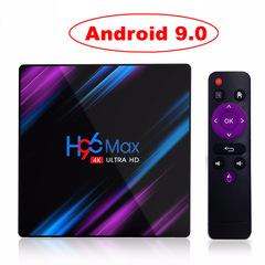 Android 9.0 Smart TV Box 4K UHD 4G 64G Set Top Box Dual WiFi black