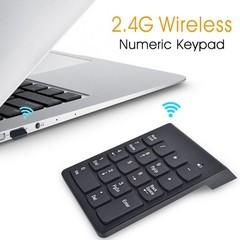 2.4G Wireless USB Key Number Pad Numeric Keypad Accounting black one size