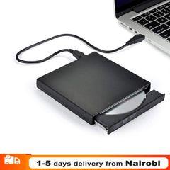 External DVD Drive USB 3.0 external mobile optical Drive notebook DVD -R DVD/CD for Desktop Black