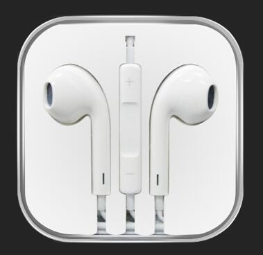 In-ear headphones with a microphone stereo headsets apple android white white