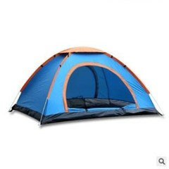 Outdoor tents, portable double hand cast speed camping tent camping tents blue double