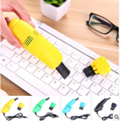 Keyboard miniature handheld vacuum cleaner, USB computer dust cleaning brush