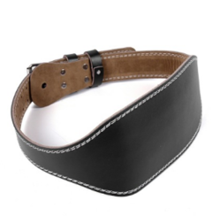 PU leather fitness belt belt male Fitness pot of fluid movement to protect the waist Black s black s-105cm