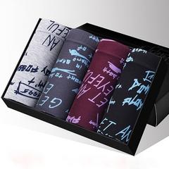 Hot sale 4 pcs/lot men panties sexy boxer men popular sexy comfortable Male panties gift box 4pcs random L