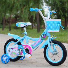 Children bicycle toy baby carrier blue 12