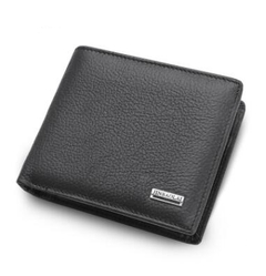 Men's Short Paragraph Wallet Business Casual Leather PU Wallet Fashion Wallet black 11.5 cm * 9.5 cm * 2.5 cm