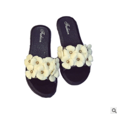 Camellia women sandals in the summer jelly beach slippers black 39