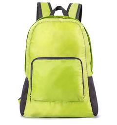 Fashion Backpack Schoolbag Bookbag 5 colors Waterproof Fabric Foldable PortableBag Men WomenChildren green one size