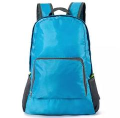 Fashion Backpack Schoolbag Bookbag 5 colors Waterproof Fabric Foldable PortableBag Men WomenChildren blue one size