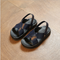 The boy's sandals, children shoes girls beach hollow out breathable Dark blue 21m