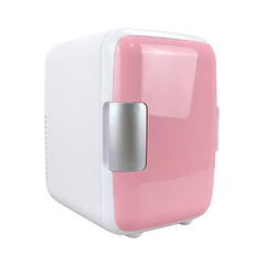 4 liters automotive mini fridge home dual-use small dormitory household The refrigerator pink As shown in figure