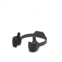Adjustable mobile phone stand for lazy thumb black as shown in the figure