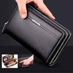 Business Men's Wallet Long PU Handbag black 11*21*4cm