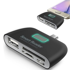 OTG/TF/SD Smart Card Reader Adapter black one size