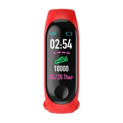 CB M3 Color Screen Smart Sport Fitness Bracelet Waterproof Blood Pressure Tracker Smart Watch red pcs