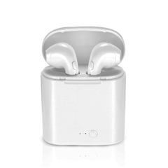 CB i7S TWS Twins Bluetooth V5.0 Wireless Earphone With Charger Bluetooth Accessories white