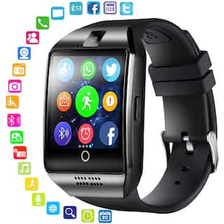 Smart Watch V8 Men Bluetooth Sport Watches Women Ladies Rel gio Smartwatch with Camera Sim Card Slot black pcs 1