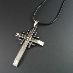 New arrival rope Pendants Bible and Cross Necklaces black pcs