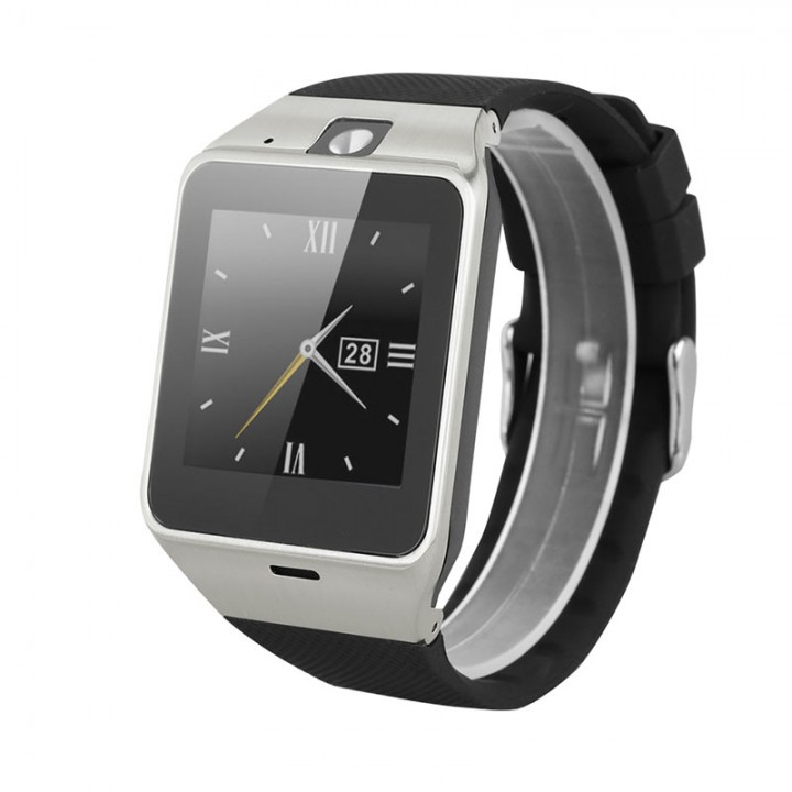 NFC Smart Watch with Camera SIM for Android Black
