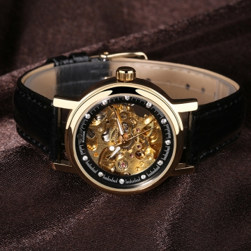 ( Buy 1 Get 1) Women Automatic Mechanical Leather Band Wristwatch 4