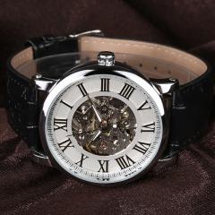 Men Automatic Business Leather Strap Wristwatch 5
