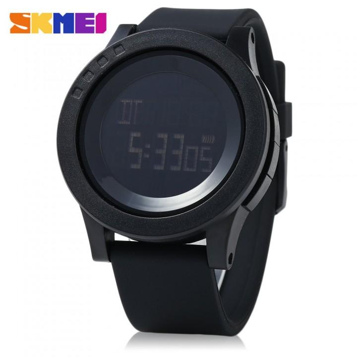 SKMEI 1142 Valentine's Day Gift -Men Sport LED Digital Watch Water Resistance Running Wristwatch black