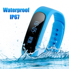 DIGGRO BRAND Smart Bracelet Bluetooth Waterproof for Android and IOS Blue
