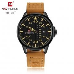 Men Suede Leather Band Waterproof Watch #3