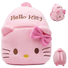 HX children plush cute cartoon cotton warm small bag shoulder bag pink KT f