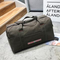 HX Large-capacity portable canvas travel travel shoulder bag duffel bag khaki f